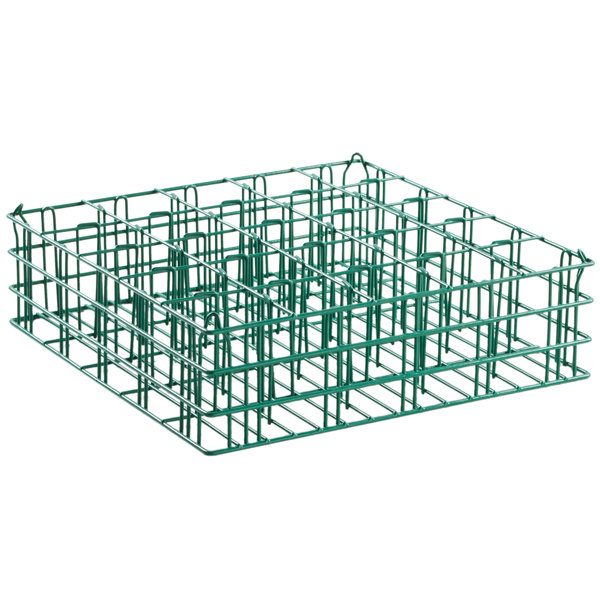"25 Compartment Catering Glassware Basket - 3 1/2"" x 3 1/2"" x 5 1/4"" Compartments Main Image 1"