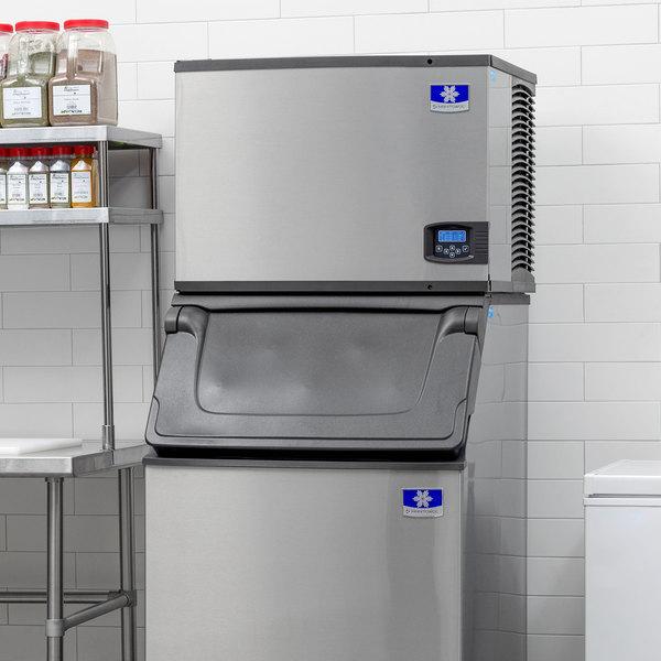 "Manitowoc IY-0505W Indigo Series 30"" Water Cooled Half Size Cube Ice Machine - 120V, 550 lb."