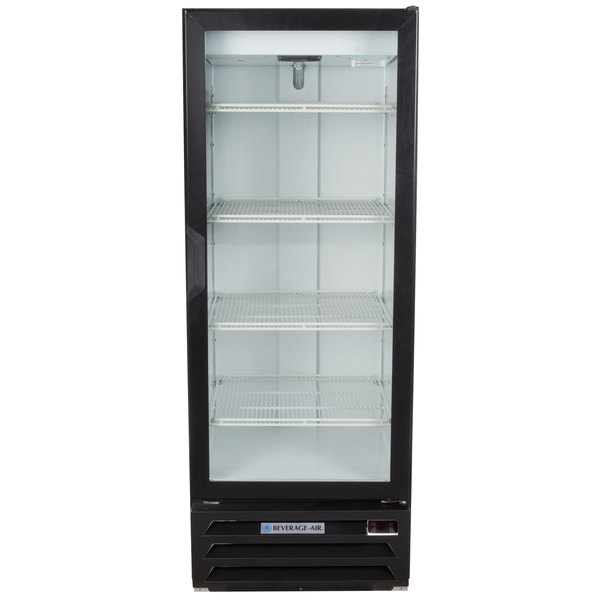 "Beverage-Air LV12HC-1-B LumaVue 24"" Black Refrigerated Glass Door Merchandiser with LED Lighting"