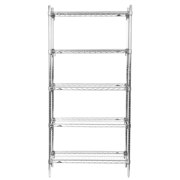 metro 5a537c stationary super erecta adjustable 2 series chrome wire shelving unit 24 x 36 x - Wire Shelving Units