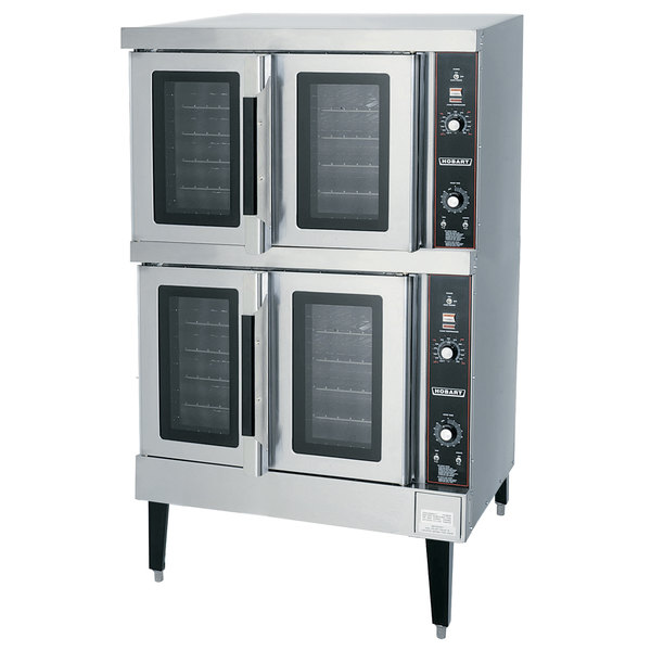 Hobart HEC502 Double Deck Full Size Electric Convection Oven - 208V, 3 Phase, 12.5 kW