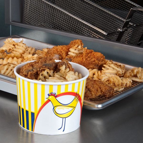 Choice 64 oz. Chicken Bucket with Lid - 210/Case