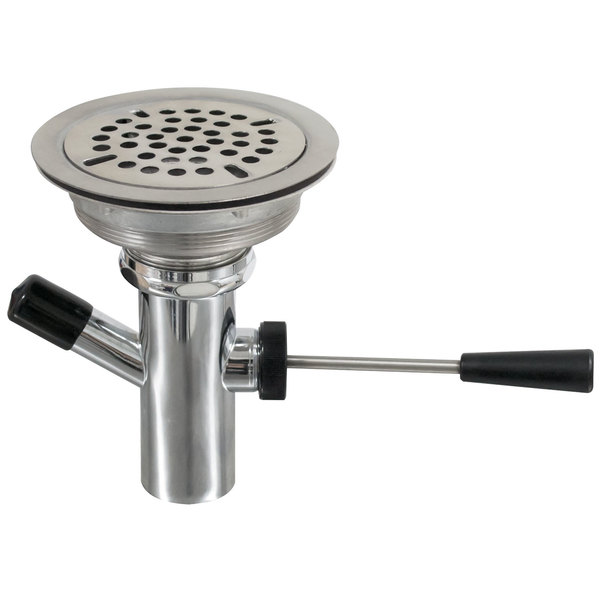 """Advance Tabco K-67 Lever Handle Waste Valve for Hand Sinks - 3 1/2"""" Drain Opening Main Image 1"""