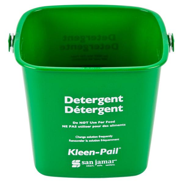 San Jamar KP97GN 3 Qt. Green Cleaning Kleen-Pail