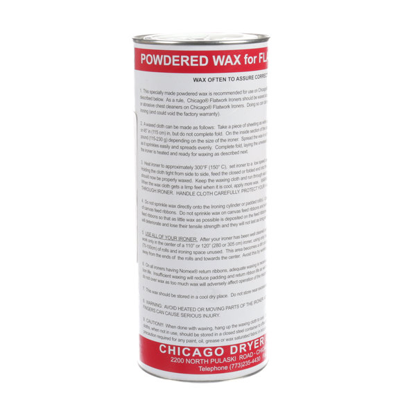 Chicago Dryer 4006-000-01 Powdered Wax 1.5lb