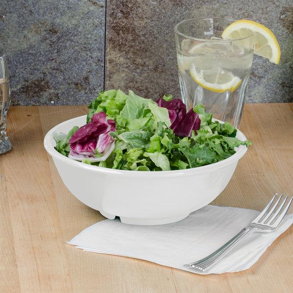 Thunder Group CR5807W White 32 oz. Melamine Salad Bowl - 12/Case Main Image 3