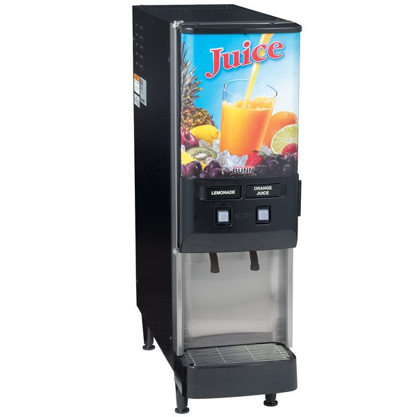 Bunn 37900.0025 JDF-2S 2 Flavor Cold Beverage Juice Dispenser with Dual Dispense Main Image 1