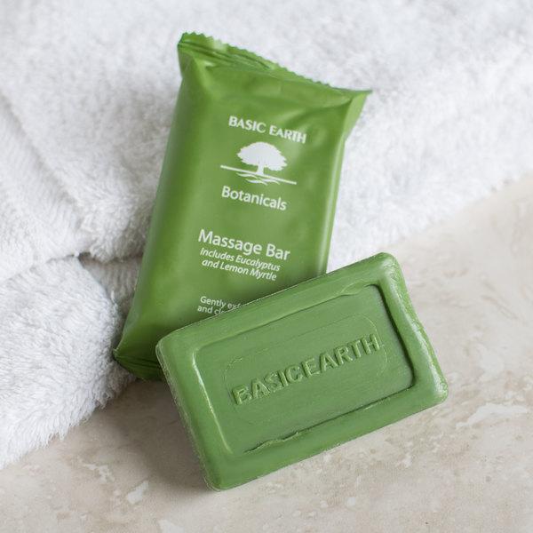Basic Earth Botanicals Hotel and Motel Wrapped Massage Bath Soap 1.94 oz. Bar - 200/Case
