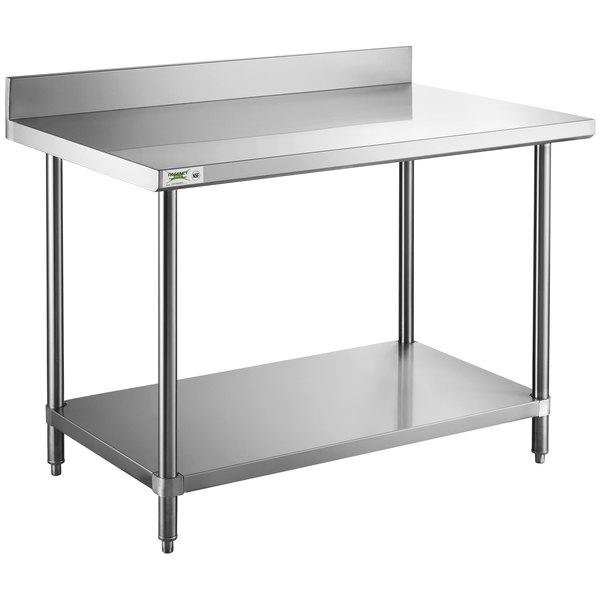 Regency 30 X 48 16 Gauge Stainless Steel Commercial Work Table With 4 Backsplash And Undershelf