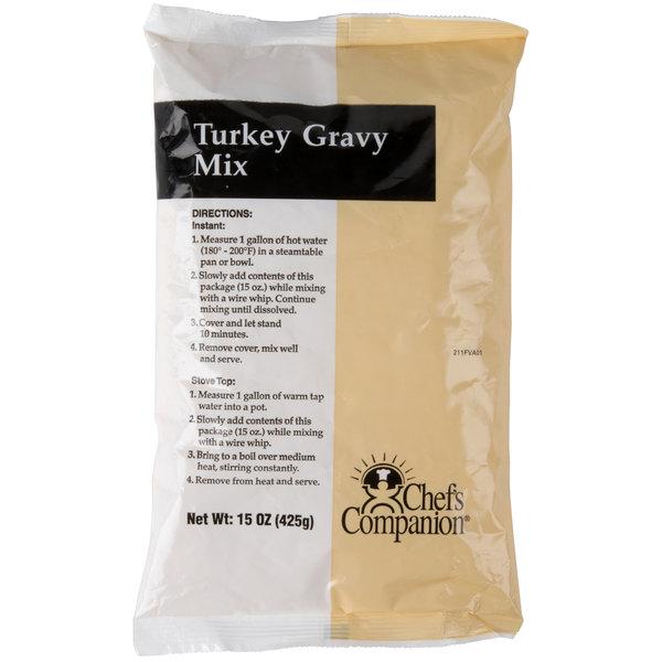 Chef's Companion 15 oz. Turkey Gravy Mix - 8/Case