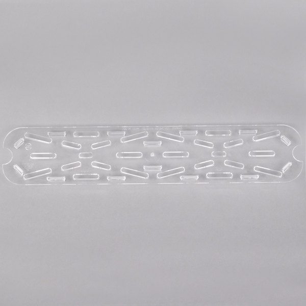 Cambro 20LPCWD135 Camwear 1/2 Size Long Clear Polycarbonate Drain Tray