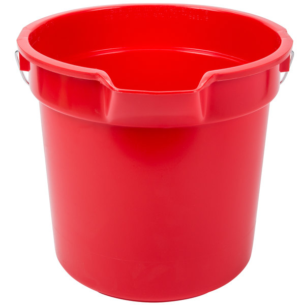 Continental 8114RD Huskee 14 Qt. Red Round Utility Bucket
