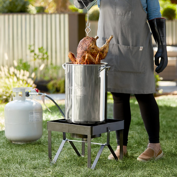 Backyard Pro Weekend Series BP30-SSKIT All Stainless Steel 30 Qt. Turkey Fryer Kit / Steamer Kit - 55,000 BTU Main Image 2