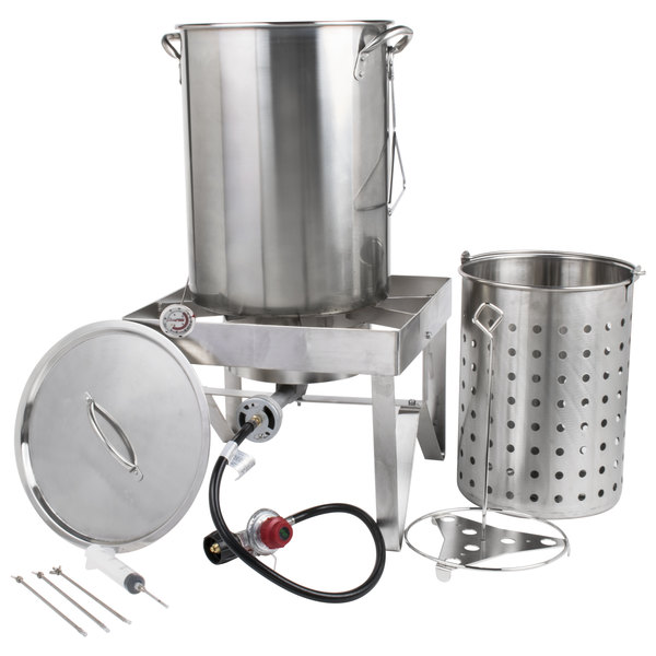 The Backyard Pro 30 Qt. All Stainless Steel Turkey Fryer Kit / Steamer Kit  Offers Unbeatable Value And Versatility.