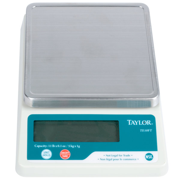 Perfect For Delis, Bakeries, Or Restaurants, This Taylor TE10FT 11 Lb.  Compact Digital Scale Is An Indispensable Addition To Any Kitchen With  Limited ...