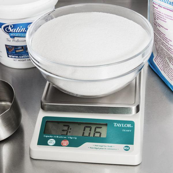 Taylor TE10FT 11 lb. Compact Digital Portion Control Scale