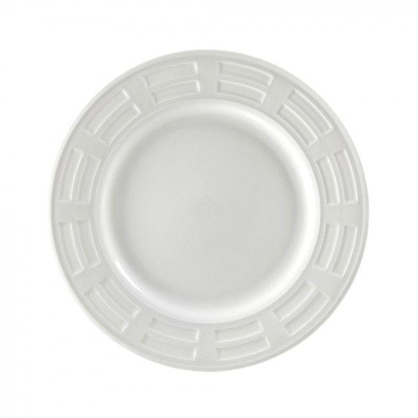"""10 Strawberry Street SORR0001 Sorrento 10 1/4"""" White Porcelain Plate - 24/Case"""