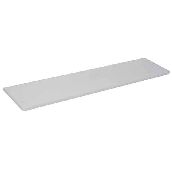 """APW Wyott 32010637 Equivalent 60 1/8"""" x 7 1/2"""" Poly Cutting Board for 4 Well Sealed Element Steam Table Main Image 1"""