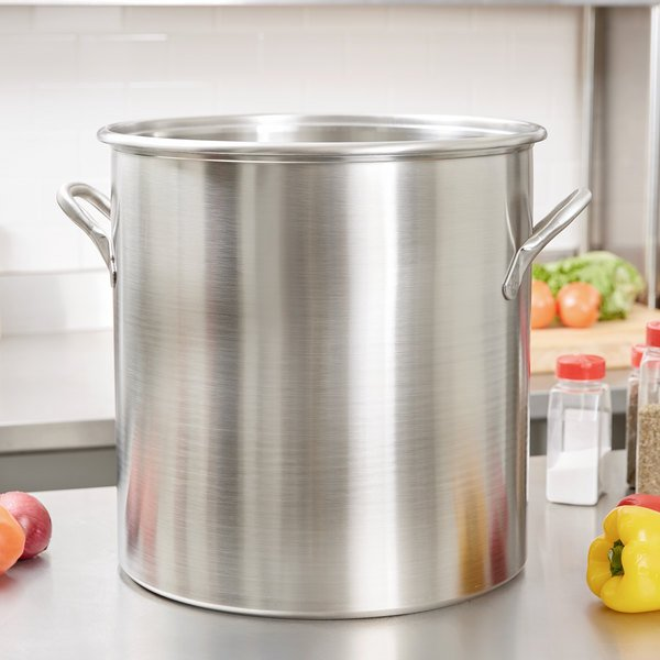Vollrath 77640 Tri Ply 57.5 Qt. Stainless Steel Stock Pot Main Image 2