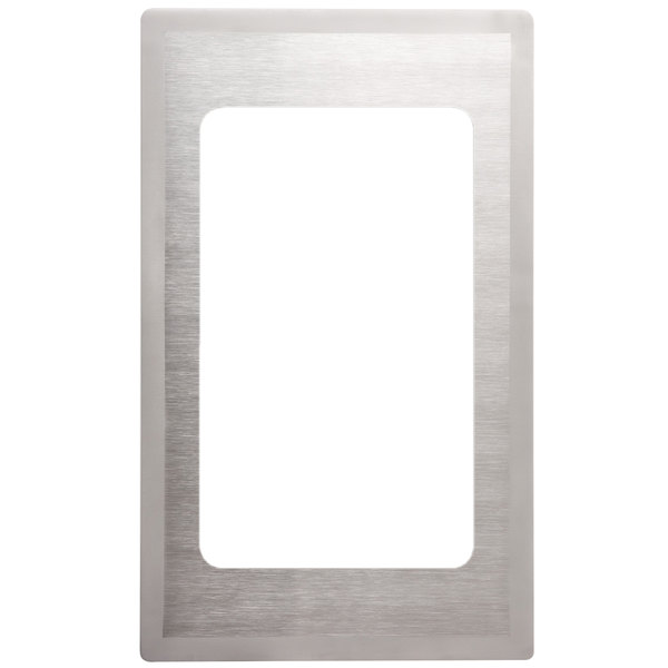 Vollrath 8240516 Miramar Stainless Steel Adapter Plate with Satin Finish Edge for 3/4 Size Food Pan