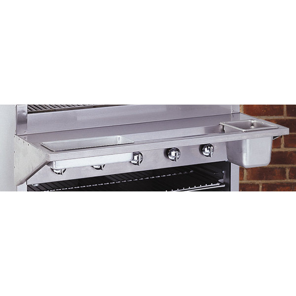 Bakers Pride 21887218-GS Glo Stone Charbroiler Condiment Rail Main Image 1