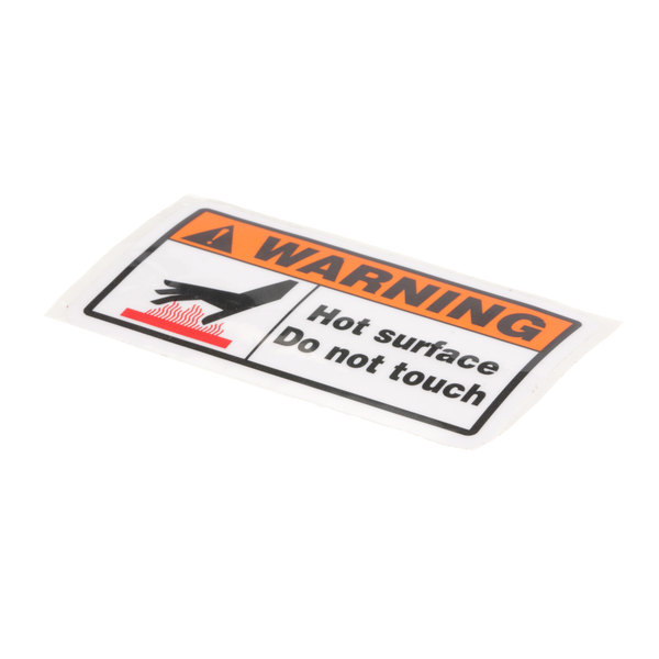 Equipex Decal, Caution Hot Main Image 1