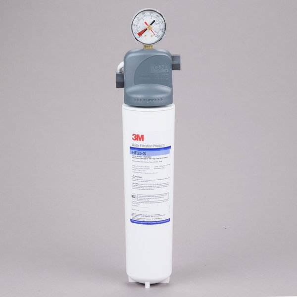 3M Water Filtration Products ICE125-S Single Cartridge Ice Machine Water Filtration System - 1.0 Micron Rating and 1.5 GPM Main Image 1