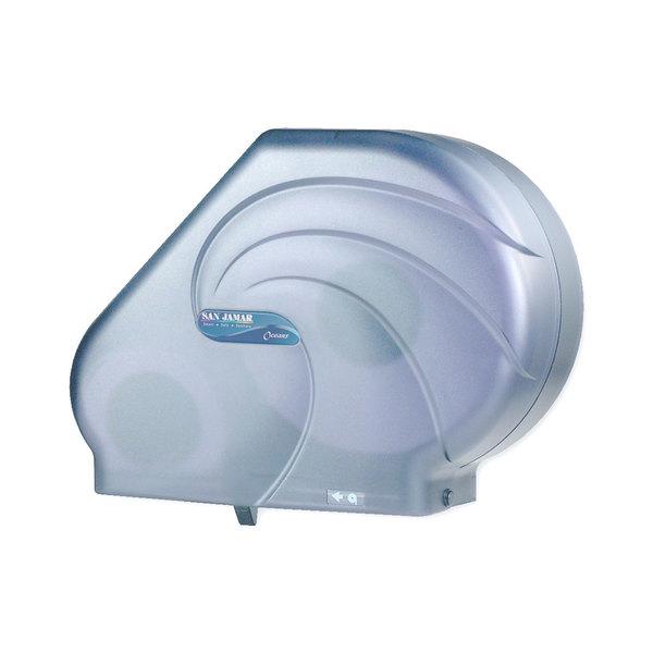"""San Jamar R3090TBL Reserva Oceans 9""""-10 1/2"""" Jumbo Toilet Tissue Dispenser - Arctic Blue"""