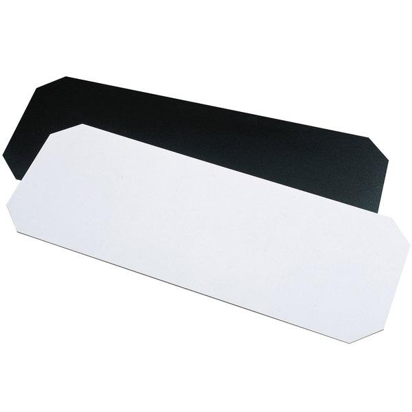 "Metro 1436BWI Black and White Reversible Decorator Shelf Inlay 14"" x 36"""
