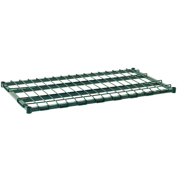 "Metro 2448DRK3 48"" x 24"" Metroseal 3 Heavy Duty Dunnage Shelf with Wire Mat - 1300 lb. Capacity Main Image 1"