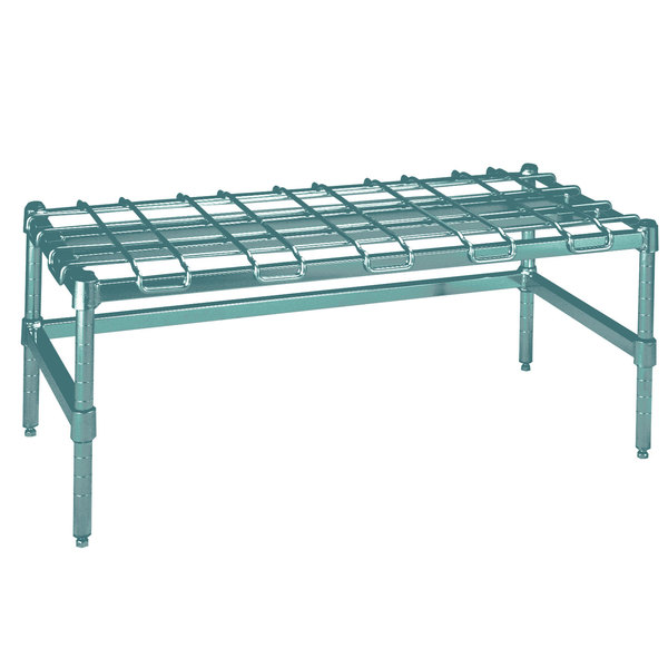 """Metro HDP56K3 24"""" x 60"""" x 16 1/4"""" Super Heavy Duty Metroseal 3 Dunnage Rack with Wire Mat - 2400 lb. Capacity Main Image 1"""