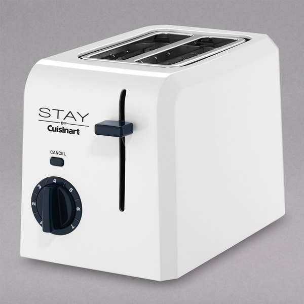 STAY by Cuisinart WPT220W 2 Slice White Toaster Main Image 1