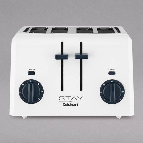 STAY by Cuisinart WPT440W 4 Slice White Toaster Main Image 1