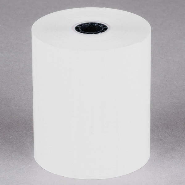 "3 1/8"" x 230' Thermal Cash Register POS Paper Roll Tape - 10/Pack"