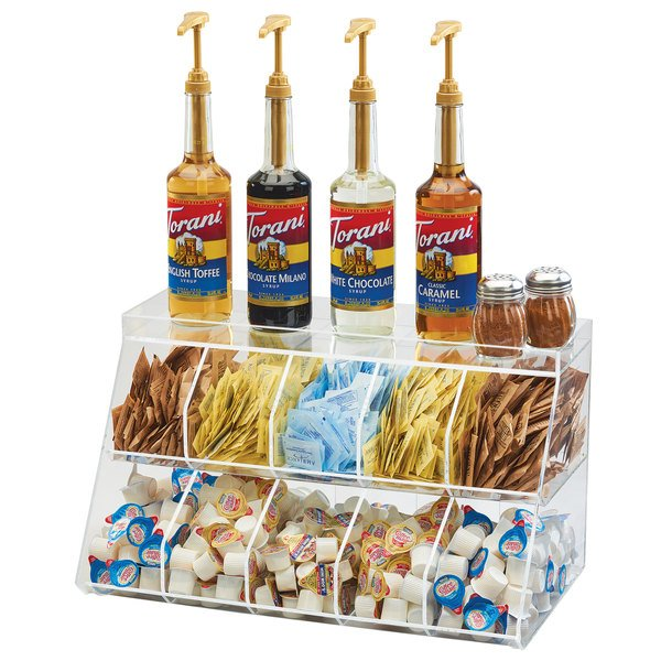 "Cal-Mil 3643-10 21"" x 12"" x 12"" 10 Bin Condiment Holder Main Image 1"