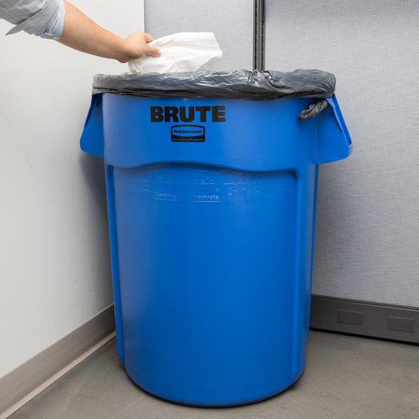 Rubbermaid FG264300BLUE BRUTE 44 Gallon Blue Trash Can