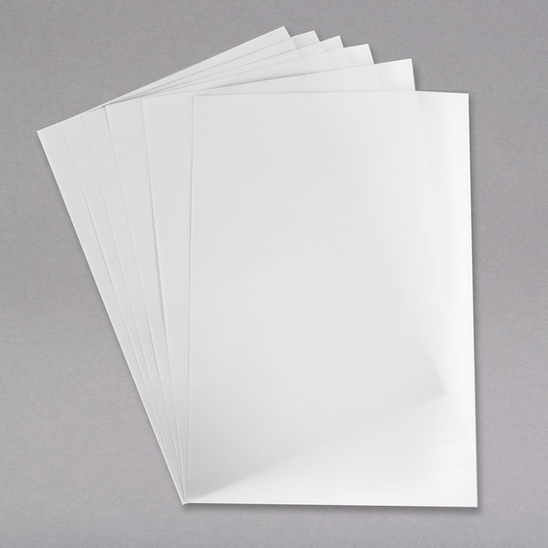 "H. Risch, Inc. LEDPAPER-2V 8 1/2"" x 11"" Dual-Page LED Menu Paper - 20/Pack Main Image 1"
