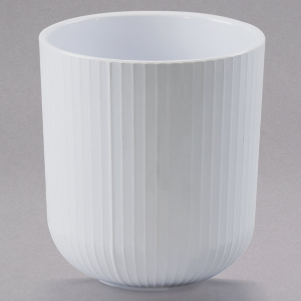 Cal-Mil 3675-32-15 32 oz. White Melamine Crock Main Image 1