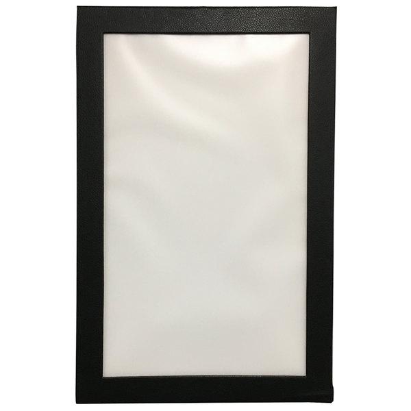 "H. Risch, Inc. LED-1V 8 1/2"" x 14"" Customizable Single-Page Black LED Menu Cover Main Image 1"