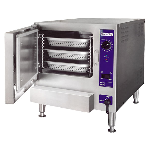 Cleveland 22CET3.1 SteamChef 3 Pan Electric Countertop Steamer - 208V, 1 Phase, 12 kW Main Image 1