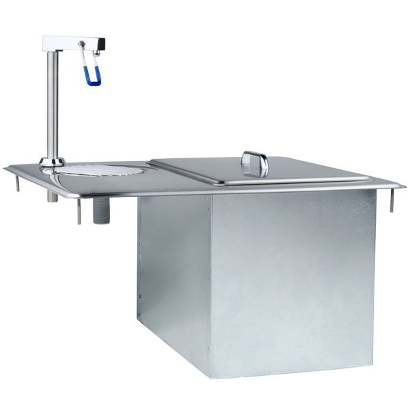 Delfield 204 Drop-In Water Station / Glass Filler With Ice Storage Chest / Bin