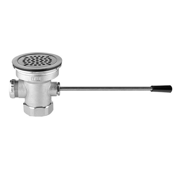 """T&S B-3962 Lever Waste Valve - 3"""" Sink Opening Main Image 1"""