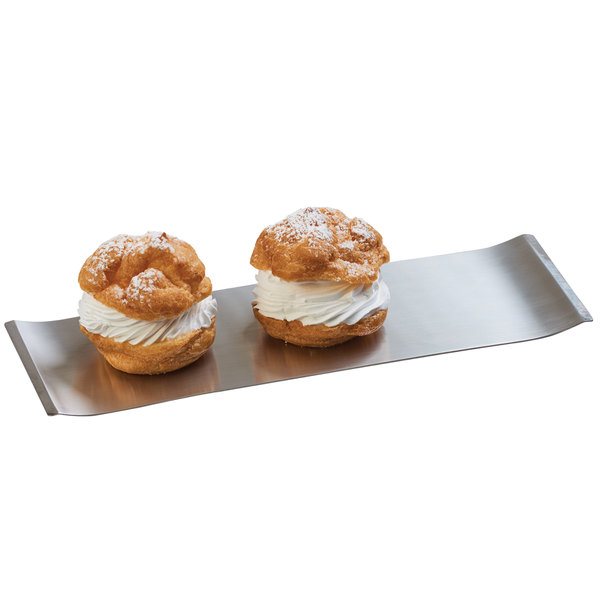 """Cal-Mil 4006-55 Stainless Steel Serving Tray - 11 3/4"""" x 4"""""""