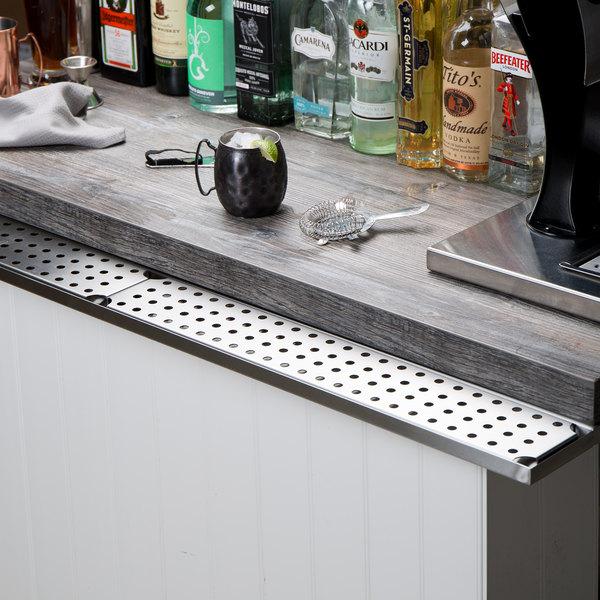 "Regency 48"" Stainless Steel Bar Drink Rail"