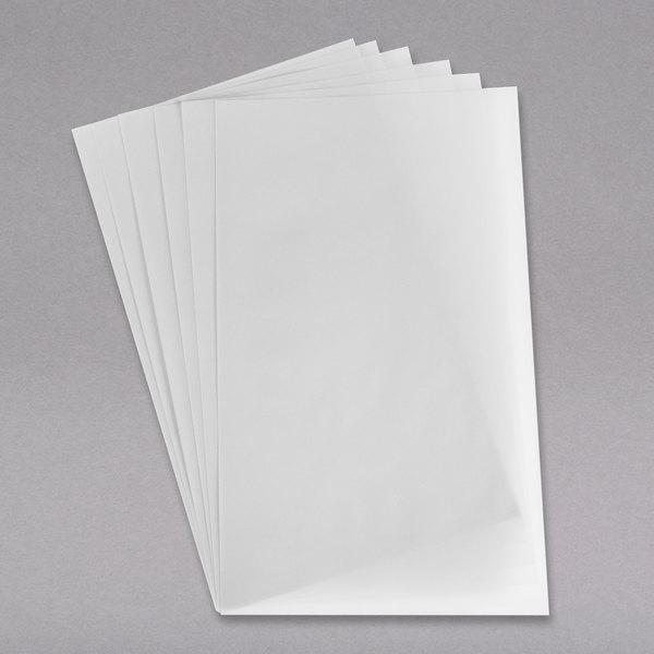 "H. Risch, Inc. LEDPAPER-2V 8 1/2"" x 14"" Dual-Page LED Menu Paper - 20/Pack Main Image 1"