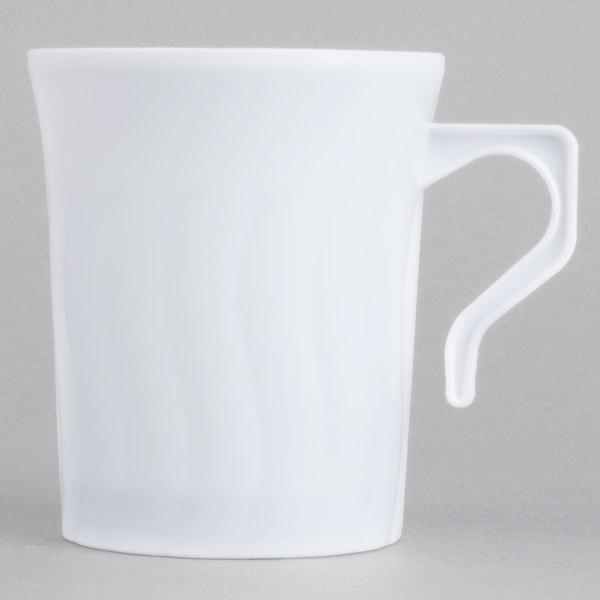 Fineline Flairware 208 Wh White 8 Oz Plastic Coffee Mug 288 Case