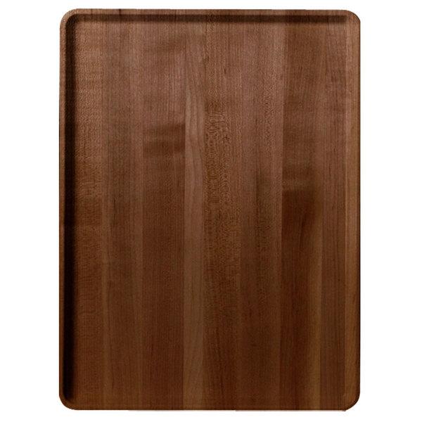 "Cambro 1222D309 12"" x 22"" Java Teak Wood-Look Dietary Tray - 12/Case"