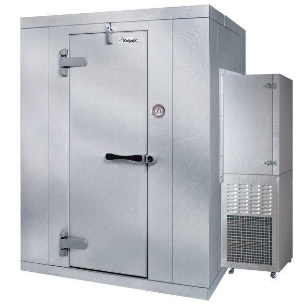 Left Hinged Door Kolpak P6-0610-CS Polar Pak 6' x 10' x 6' Indoor Walk-In Cooler with Side Mounted Refrigeration