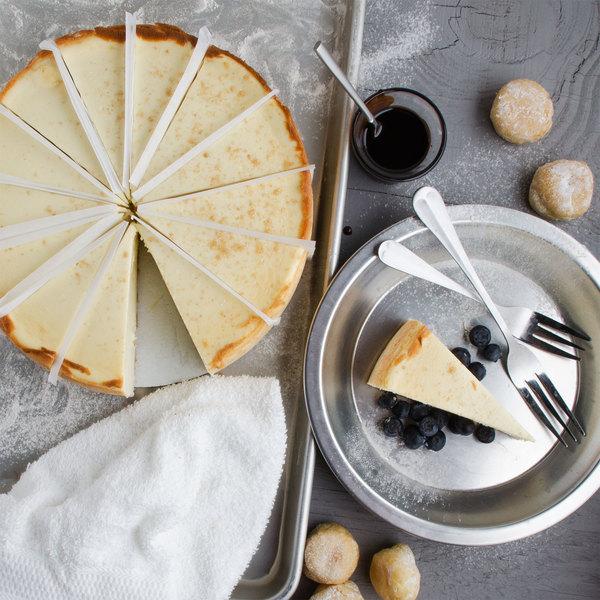 "Pellman 60 oz. 9"" Pre-Cut Plain New York-Style Cheesecake Main Image 1"