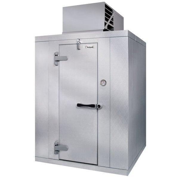 Left Hinged Door Kolpak P6-0810CT-OA Polar Pak 8' x 10' x 6' Outdoor Walk-In Cooler with Top Mounted Refrigeration